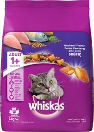 Whiskas Adult Dry Cat Food, Mackerel flavour – 3 Kg