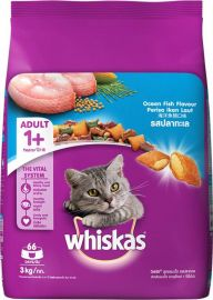 Whiskas Adult Dry Cat Food, Ocean Fish flavour – 3 Kg