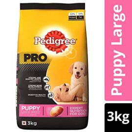 Pedigree Pro Expert Nutrition, Dry Dog Food for Large Breed Puppy (3-18 Months) - 3 kg