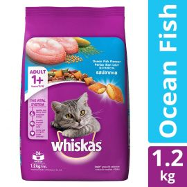 Whiskas Adult Dry Cat Food, Ocean Fish flavour– 1.2 kg