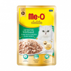 Meo Adult Delite Tuna With Chicken Flake In Jelly Wet Pouch 70g