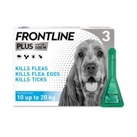 Frontline Plus Spot On For Dog Medium  10-20kg  3X1.34 ml