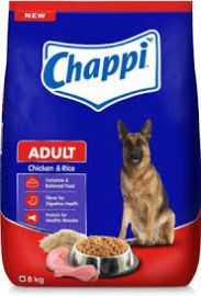 Chappi Adult Dog Food Chicken and Rice 8kg