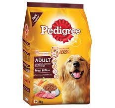 Pedigree Adult Dry Dog Food Meat and Rice, 3kg