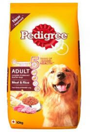 Pedigree Adult Dry Dog Food Meat and Rice, 10kg