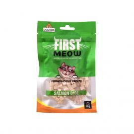 First Meo Salmon Dice Cat Treats 40g