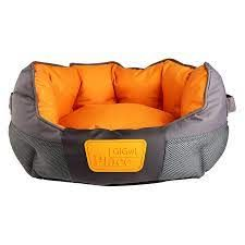 Gigiwi Place Soft Bed Canvas Grey and Orange Large