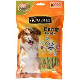 Goodies Chlorophyll Twisted Energy Dog Stick Treats 125gm