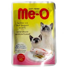 Me-O Adult Cat Food, Sardine with Red Snapper, 80 g