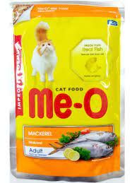 Meo Mackerel Wet Pouch Food For Adult Cats 80g