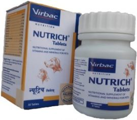 Virbac Nutrich 60 Tab Pets Nutritional Supplement For Dog and Cats (60 Tablets)