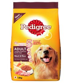 Pedigree Adult Dry Dog Food Meat and Rice, 1.2 kg