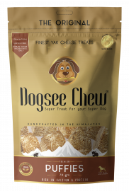 Dogsee Chew Puffies 100% Yak Milk For Dog All Ages and Breeds 70 gm