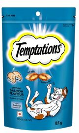 Temptations Savoury Salmon Flavour Treats For Cats 85g