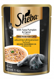 Sheba Adult With Tuna Pumpkin And Carrot in Gravy Food 70g