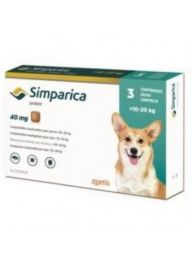 Simparica Tick and Flea Sarolaner Chewable Tablets for 10-20kg Dogs