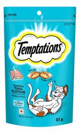 Temptations Tempting Tuna Flavour Treats For Cats 85g