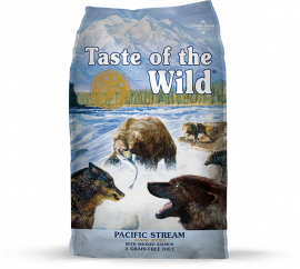 Taste Of Wild GF Pacific Stream Adult Canine Dog Food With Smoked Salmon Flavor 12.2kg