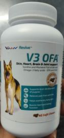 V3 OFA Skin ,Heart, Brain and Joint Support Soft Chews Fod Dogs 40nos 120g
